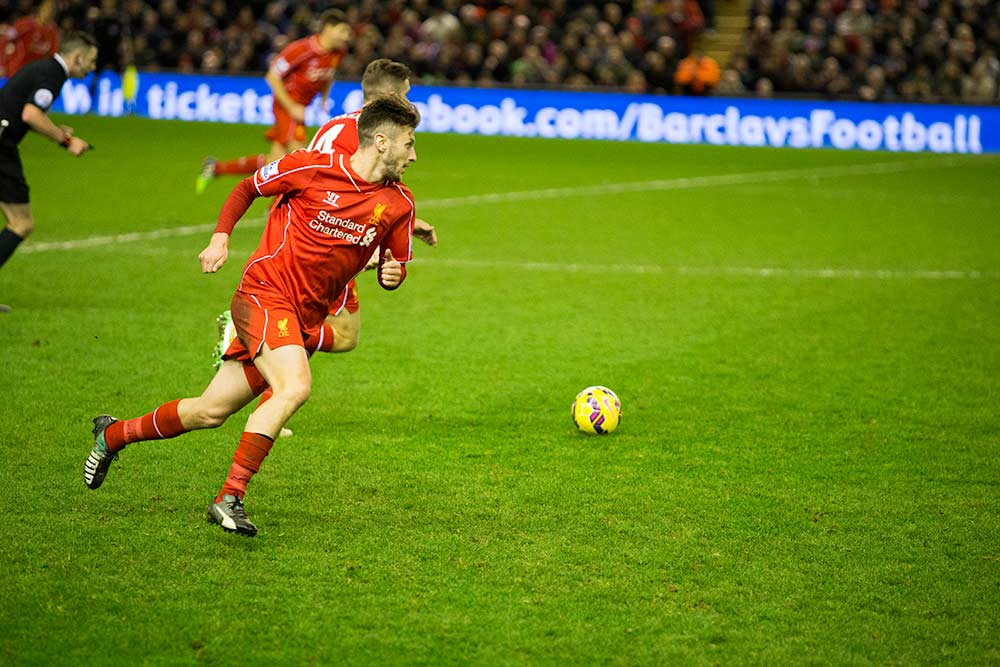 Adam Lallana Liverpool v Arsenal