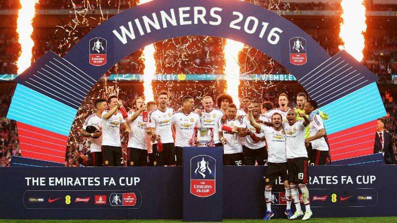 Emirates FA Cup winners Man United 2016