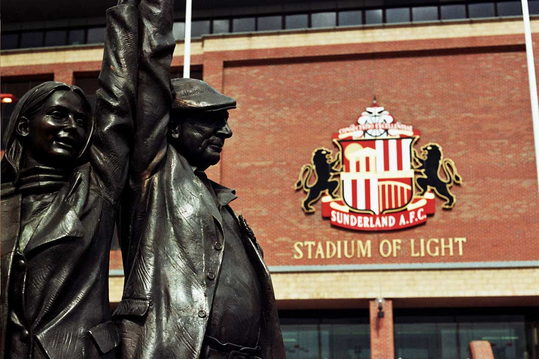 sunderland afc outside stadium of light